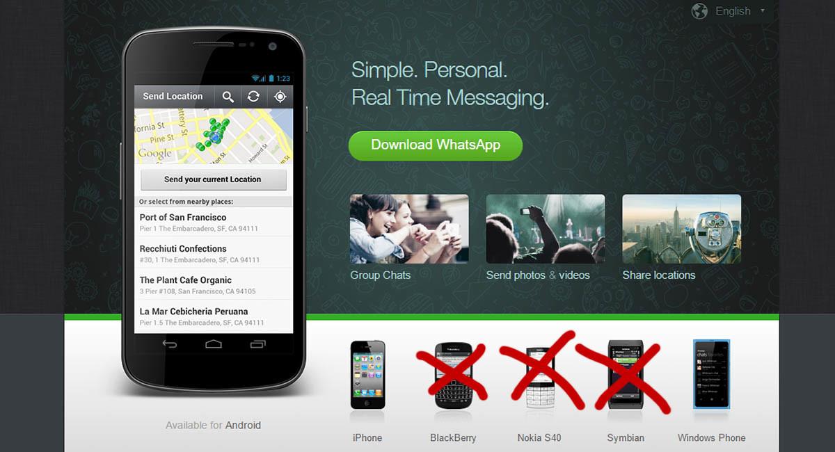 La limpieza de WhatsApp: Sólo estará en Android, iOS y Windows Phone